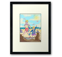 Summer Time Sun Burns Framed Print