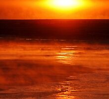 Sunrise steaming cold by Owed To Nature
