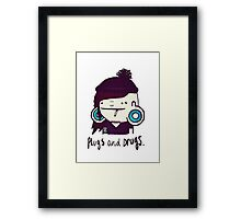 plugs and drugs Framed Print