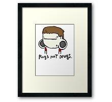 plugs not drugs (male) Framed Print