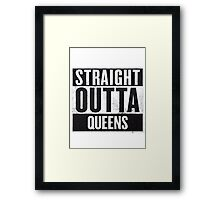 straight out of queens Framed Print