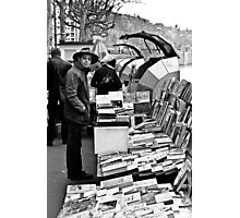 Book sellers on the Rhone Photographic Print