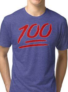 100 emoji  Tri-blend T-Shirt