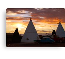 Route 66 Accomodations Canvas Print