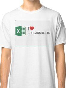 Spreadsheet Love Classic T-Shirt