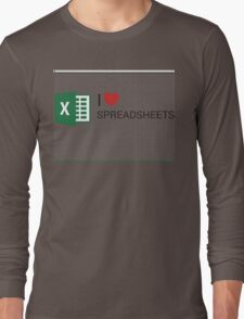 Spreadsheet Love Long Sleeve T-Shirt