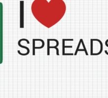 Spreadsheet Love Sticker