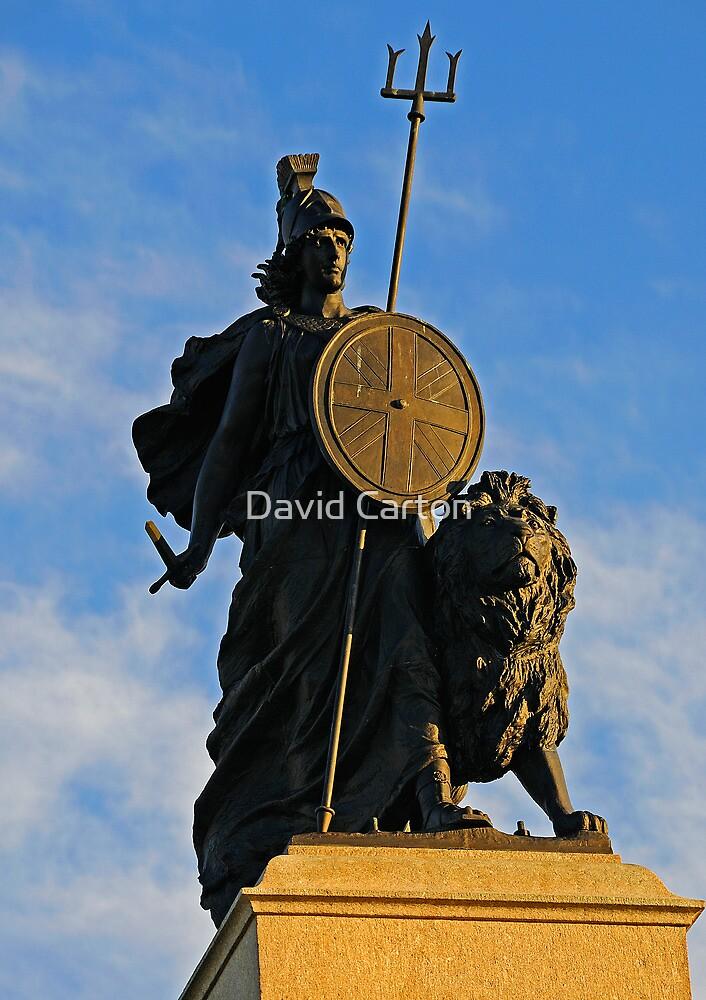Statue of Britannia in Plymouth, Devon, UK by buttonpresser