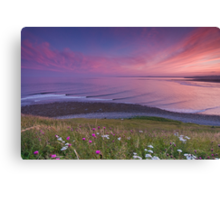 Sunset Surf at Lawrencetown Beach Canvas Print
