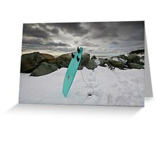 Surfboard in the Snow Greeting Card