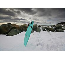 Surfboard in the Snow Photographic Print