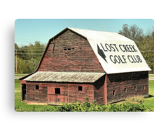 Find the Creek, Find the Club Canvas Print