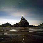 Ninepin Rock in the Dark by Michael Treloar