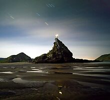Ninepin Rock in the Dark by Michael Treloar