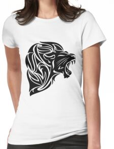 Head of Tribal Lion Womens Fitted T-Shirt