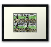 Drawing: City XIII (2013) (Paris) Framed Print