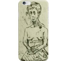fara monoprint  - sitting in sari iPhone Case/Skin