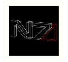 N7 in 3D Art Print
