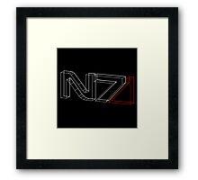 N7 in 3D Framed Print
