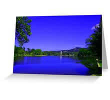Furman University Lake and Bell Tower Greeting Card