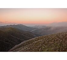 Mount Feathertop Sunset Photographic Print