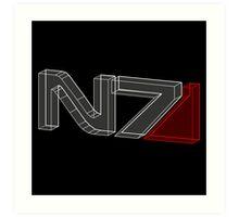 N7 in 3D - 2 Art Print