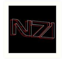 N7 in 3D - 3 Art Print