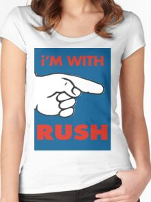i'M WITH RUSH Women's Fitted Scoop T-Shirt