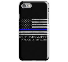 The Blue Line iPhone Case/Skin