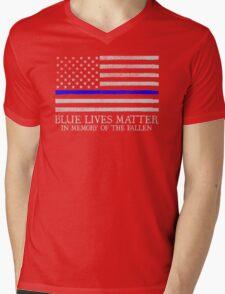 The Blue Line Mens V-Neck T-Shirt