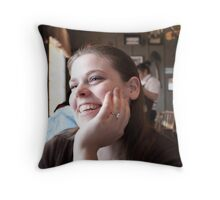 Mercy & Clay - Engagement  (V) Throw Pillow