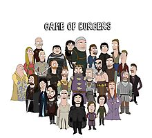Game of Burgers Photographic Print