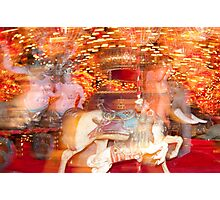 """Carousel Dreams"" - merry go round at Spring Green, WI Photographic Print"