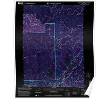 USGS Topo Map Oregon Soldier Camp Mountain 281562 1998 24000 Inverted Poster