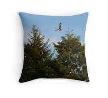 Fourteen Bald Eagles Throw Pillow