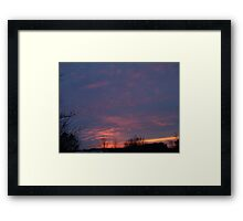 Sunset 8 Framed Print