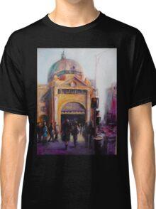 Morning bustle Flinders street Station Melbourne Classic T-Shirt