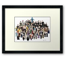 Game of Burgers - All Characters Framed Print