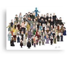 Game of Burgers - All Characters Canvas Print