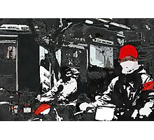 Moped driving in Vietnam Photographic Print