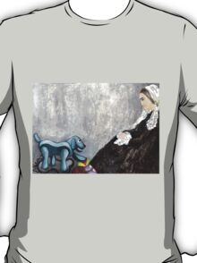 Woman with Robotic Dog T-Shirt