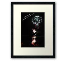 Fireworks, Harrington NYE 2010 Framed Print