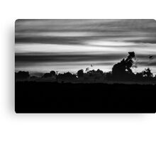 B&W SUNSET Canvas Print