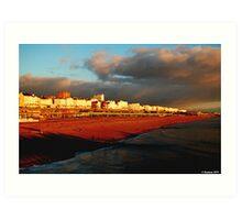 Kemp Town_Brighton_Evening Light Art Print