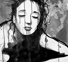 jesus as a girl by Loui  Jover