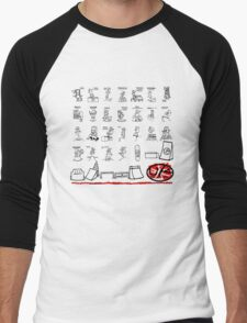 united kingdom tshirts by ian rogers skate park Men's Baseball ¾ T-Shirt