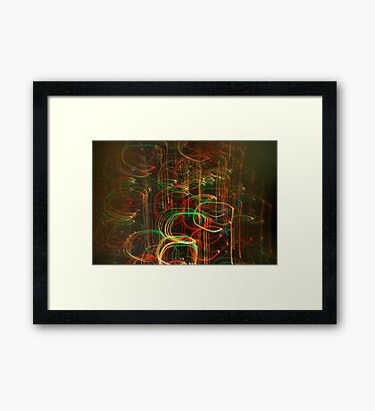 Coloured lights Framed Print