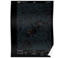 USGS Topo Map Oregon Triangle Lake 20110831 TM Inverted Poster