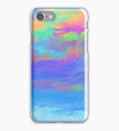 abstract colorful painted background iPhone Case/Skin