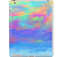 abstract colorful painted background iPad Case/Skin